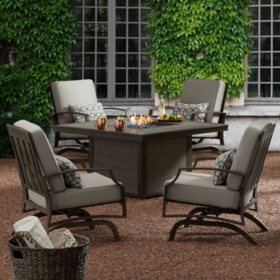 members mark charleston sunbrella fire chat set - Sams Club Patio Furniture
