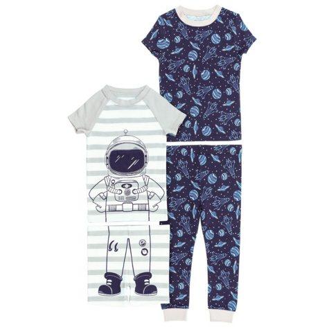 Member's Mark Boy's 4 Piece Pack Snug Fit Pajamas