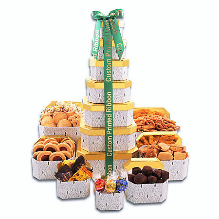 Ultimate Holiday Gift 7-Tower with Custom Printed Ribbon (80 Towers)