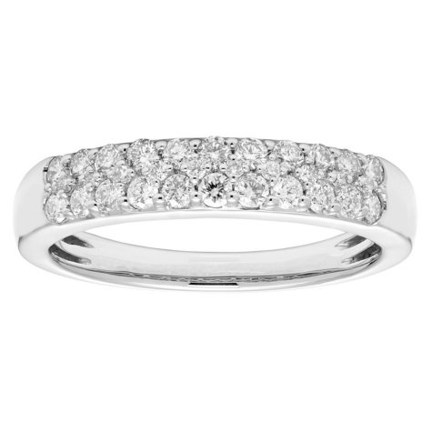 0.50 CT. T.W. Two Row Diamond Band Set in 14K Gold