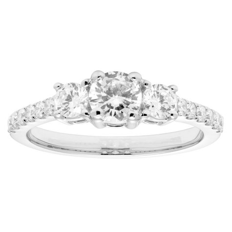 1.0 CT. T.W. 3 Stone Round Diamond Ring in 14K Gold