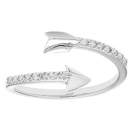 0.15 CT. T.W. Round Diamond Arrow Ring in 14K Gold
