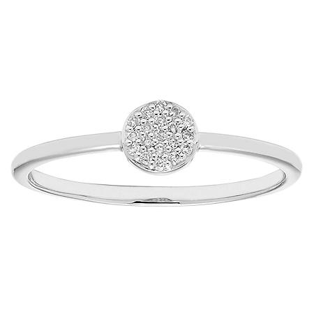 Diamond Accent Round Shaped Ring in 14k Gold
