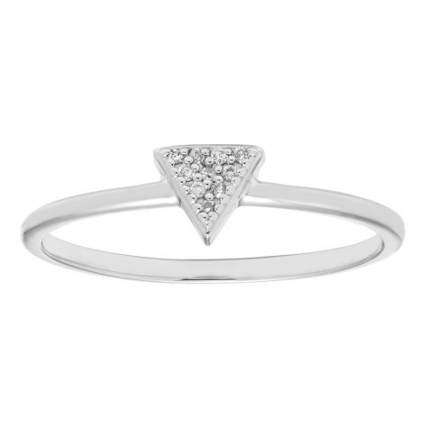 Diamond Accent Triangle Shaped Ring in 14k Gold