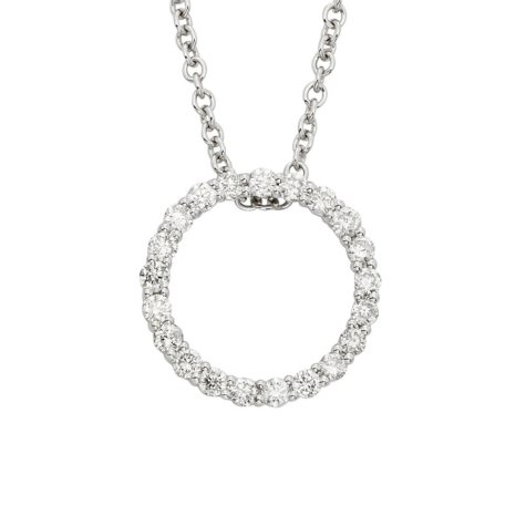 0.25 ct. t.w. Diamond Circle Pendant in 14K Gold
