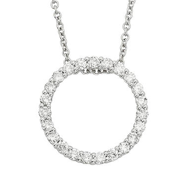 0.50 ct. t.w. Diamond Circle Pendant in 14K Gold