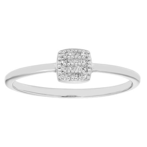 Diamond Accent Cushion Shaped Ring in 14k Gold