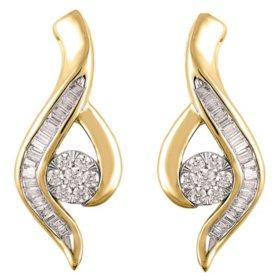 0.46 CT. T.W. Diamond Swirl Earring in 14K Gold