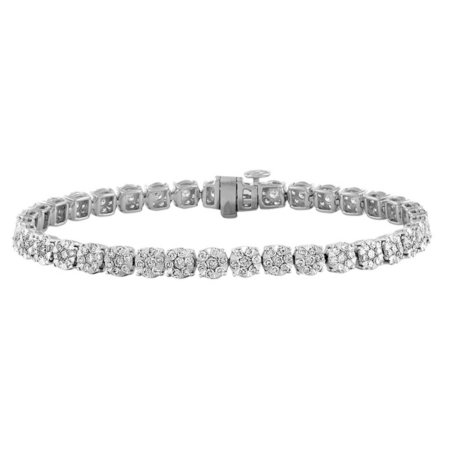 3.96 CT. T.W. Diamond Bracelet in 14K White Gold