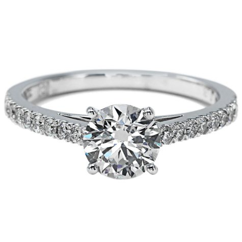 Premier Diamond Collection 1.41 CT. T.W. Round Brilliant Cut Diamond Ring in 18K White Gold - GIA & IGI (G, SI2)