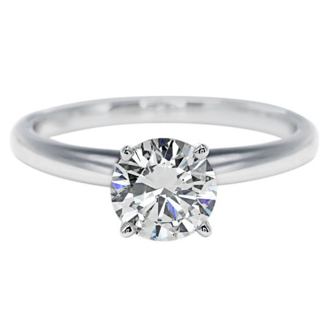 Premier Diamond Collection 1.01 CT. Round Brilliant Solitaire Diamond Ring in 18K White Gold – GIA & IGI (F, SI1)