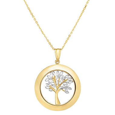 14 karat gold two tone tree of life pendant sams club 14 karat gold two tone tree of life pendant mozeypictures Image collections