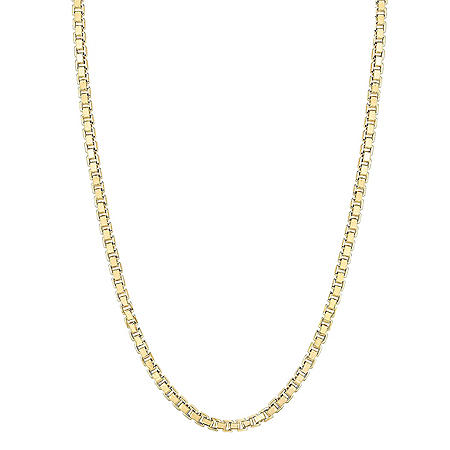 "14 Karat Yellow Gold 24"" Hollow Box Chain"