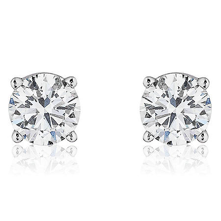Superior Quality Collection 1.4 CT. T.W. Round Diamond Studs in 18K Gold (I, VS2)