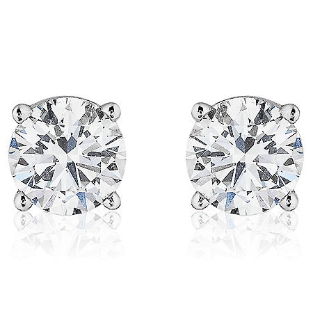Superior Quality Collection 3 CT. T.W. Round Diamond Studs in 18K Gold (I, VS2)