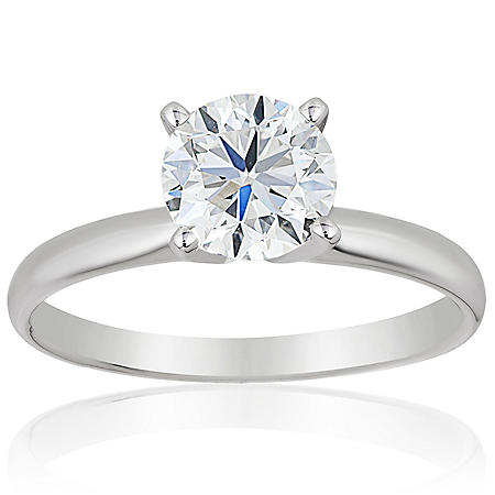 Superior Quality Collection 0.50 CT. T.W. Round Diamond Solitaire Ring in 18K Gold (I, VS2)