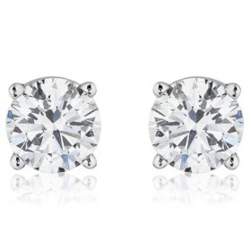 Superior Quality Collection 4 CT. T.W. Round Diamond Studs in 18K Gold (I, VS2)