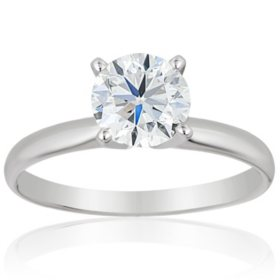 Superior Quality Collection 1 CT. T.W. Round Diamond Solitaire Ring in 18K Gold (I, VS2)