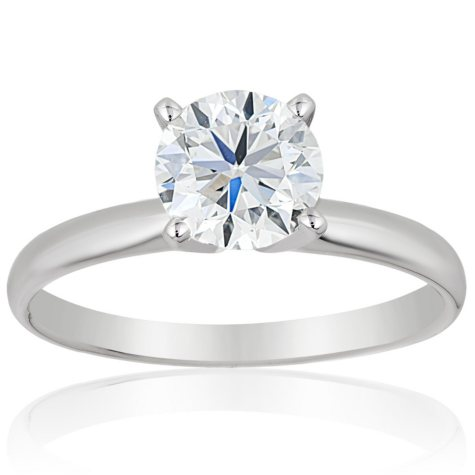 Superior Quality Collection 1.5 CT. T.W. Round Diamond Solitaire Ring in 18K Gold (I, VS2)
