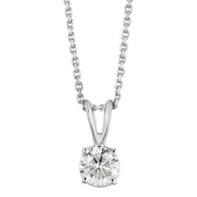 Superior Quality Collection 0.50 CT. T.W. Round Diamond Pendant in 18K Gold (I, VS2)