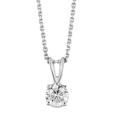 Superior Quality Collection 0.70 CT. T.W. Round Diamond Pendant in 18K Gold (I, VS2)