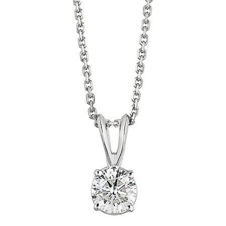 Superior Quality Collection 1.5 CT. T.W. Round Diamond Pendant in 18K Gold (I, VS2)