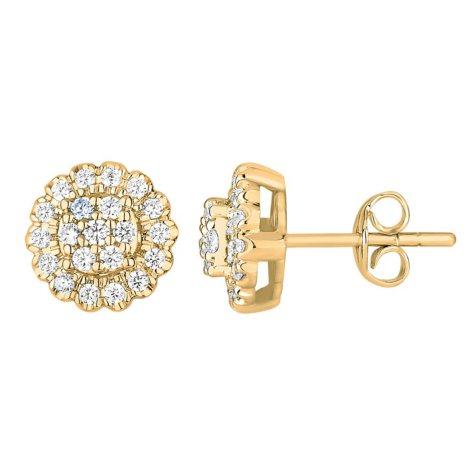 0.74 ct. t.w. Diamond Earrings in 14k Yellow Gold (H-I, I1)