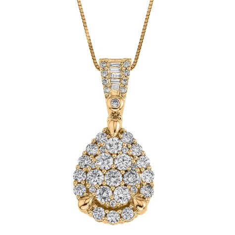 0.98 ct. t.w. Diamond Pendant in 14k Yellow Gold (H-I, I1)