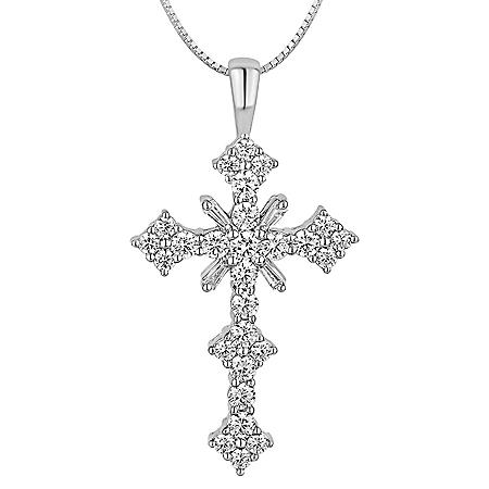 1.48 ct. t.w. Diamond Cross Pendant in 14k White Gold (I, I1)