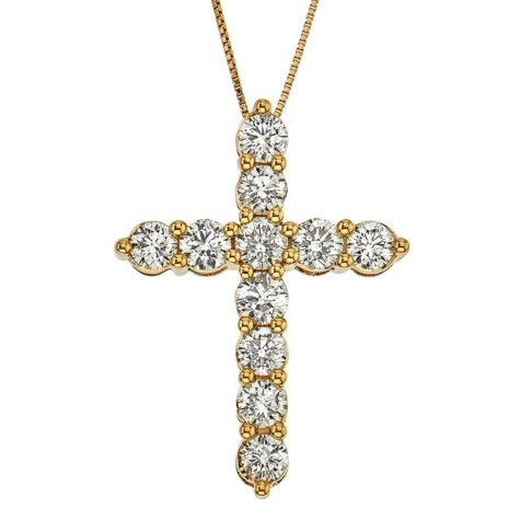 1.98 ct. t.w. Diamond Cross Pendant in 14k Yellow Gold (H-I, I1)