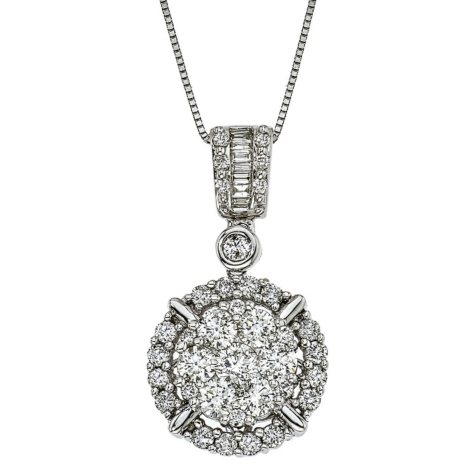 1.25 ct. t.w. Diamond Pendant in 14k White Gold (H-I, I1)