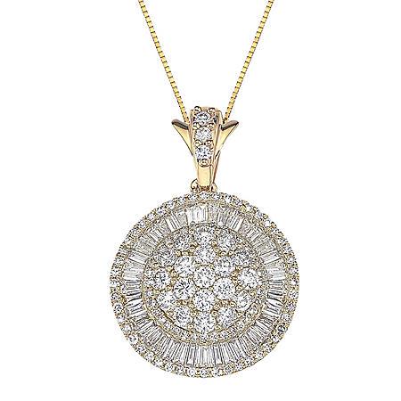 1.98 ct. t.w. Diamond Pendant in 14k Yellow Gold (H-I, I1)