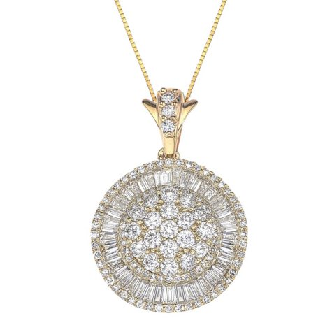 1.98 ct. t.w. Diamond Pendant in 14k Yellow Gold (H-I, I1)