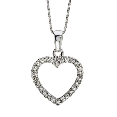 0.25 ct. t.w. Diamond Heart Pendant in 14k Gold (H-I, I1)