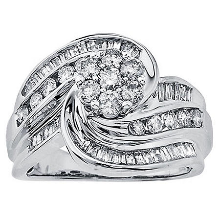 1.25 ct. t.w. Diamond Swirl Ring in 14k Gold (H-I, I1)