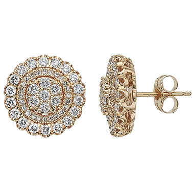 T W Diamond Earrings In 14k Gold H I I1