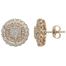 T W Diamond Earrings In 14k Gold H I I1