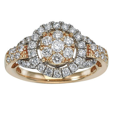 1.00 ct. t.w. Diamond Bridal Ring in 14k Gold (HI, I1)