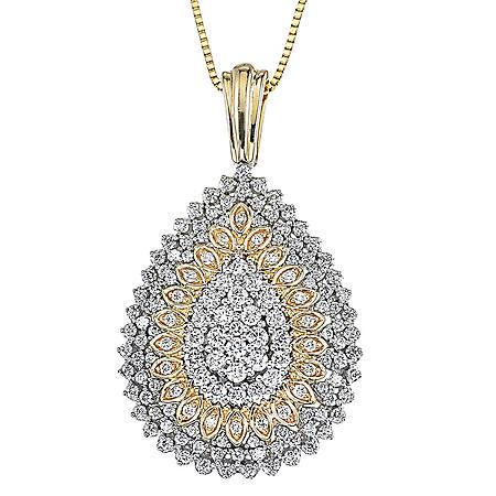 0.98 ct. t.w. Diamond Pendant in 14k Two Tone Gold (H-I, I1)