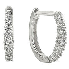3b0709ba3 0.49 ct. t.w. Diamond Hoop Earrings in 14k White Gold (HI, I1)