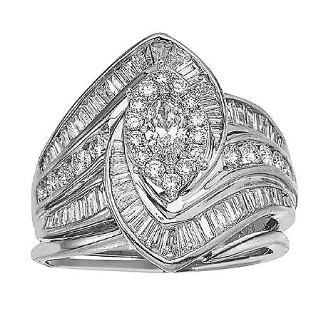 1.97 ct .t.w Diamond Bridal Set in 14k Gold (HI, I1)