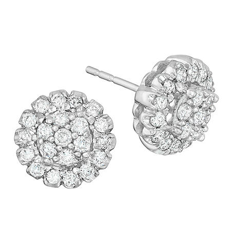 0.74 ct. t.w. Diamond Earrings in 14k White Gold (H-I, I1)