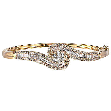 1.99 ct. t.w. Diamond Bangle in 14k Yellow Gold (H-I, I1)