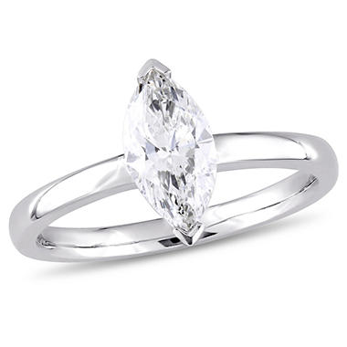 Allura 1 CT Marquise-Cut Diamond Engagement Ring in 14k White Gold
