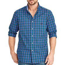 Chaps Men's Long Sleeve Plaid Woven Shirt