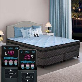 Dual Digital Memories Ultra Hi-Profile King Pillowtop Air Bed and Foundation Set