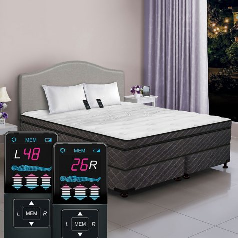Dual Digital Visions Low-Profile Queen Pillowtop Air Bed and Foundation Set
