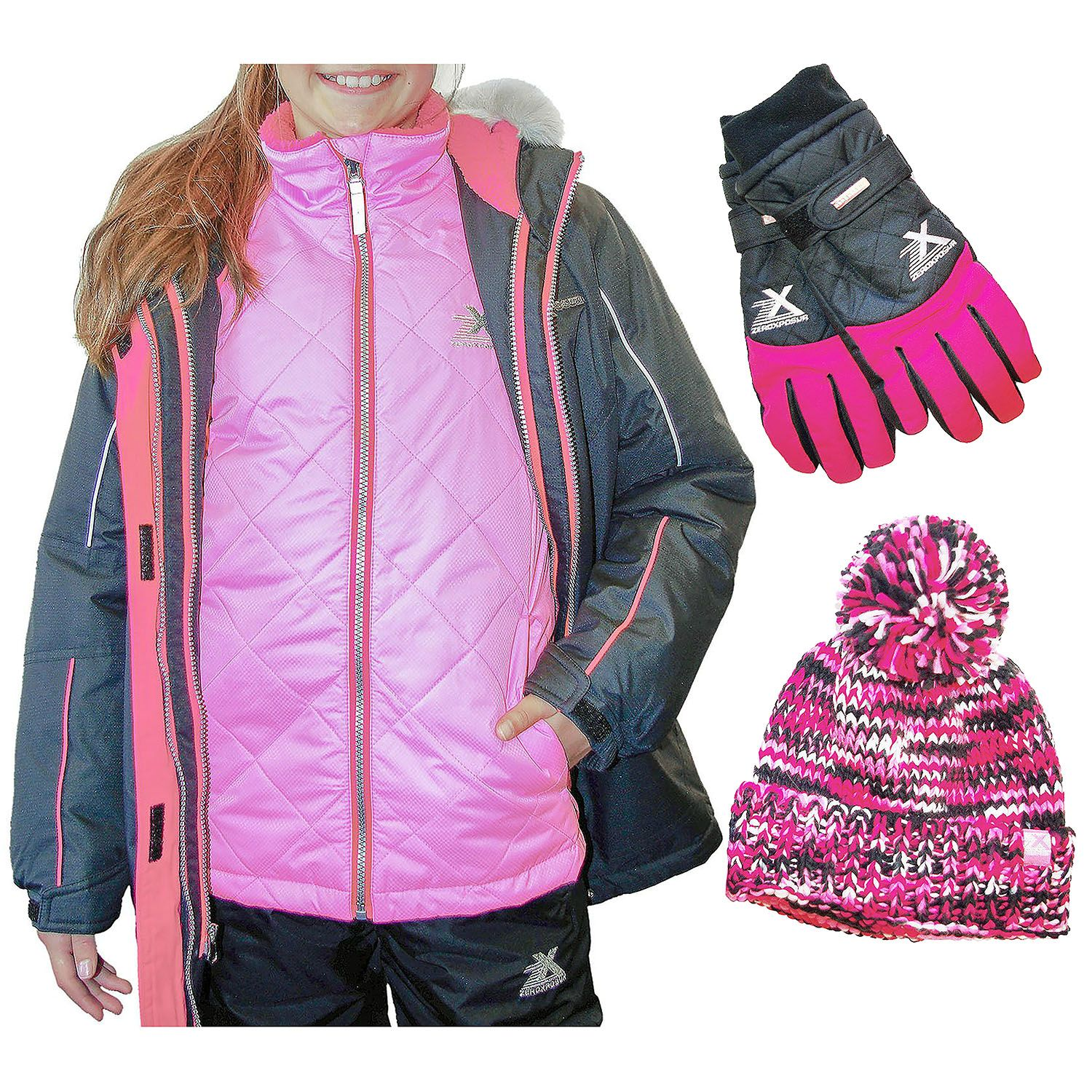 ca77d4042 ZeroXposur System Jacket, Hat, and Glove Set - Boy or Girl - Sam's Club