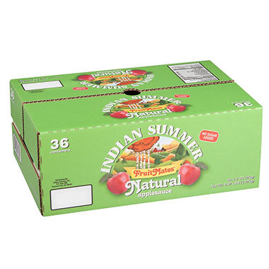 Indian Summer FruitMates Unsweetened Natural Applesauce (4 oz. ea., 36 ct.)