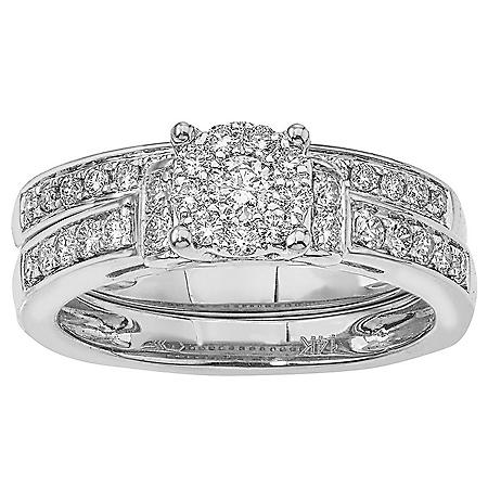 0.60 ct. t.w. Diamond Bridal Set in 14k Gold (HI, I1)